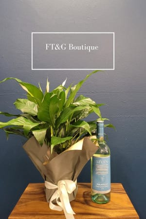 Madonna Lily and White Wine