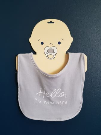 bib with hello