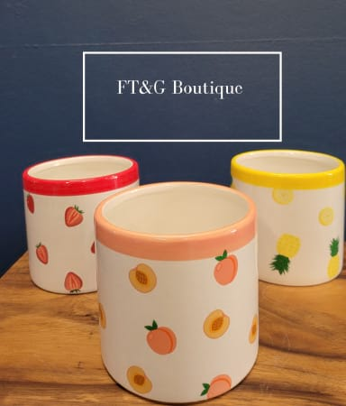 Strawberry, Peach and Pineapple Pots