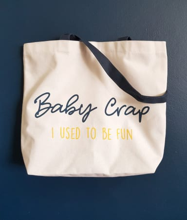 bag with baby crap